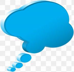 Blue Bubble Speech Image - Blue Speech Balloon Clip Art PNG