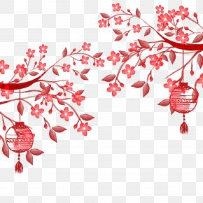Hand Painted Chinese Lantern - Poster Paper PNG