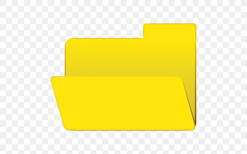 Yellow Rectangle Square Paper Product, PNG, 512x512px, Watercolor, Paint, Paper Product, Rectangle, Wet Ink Download Free