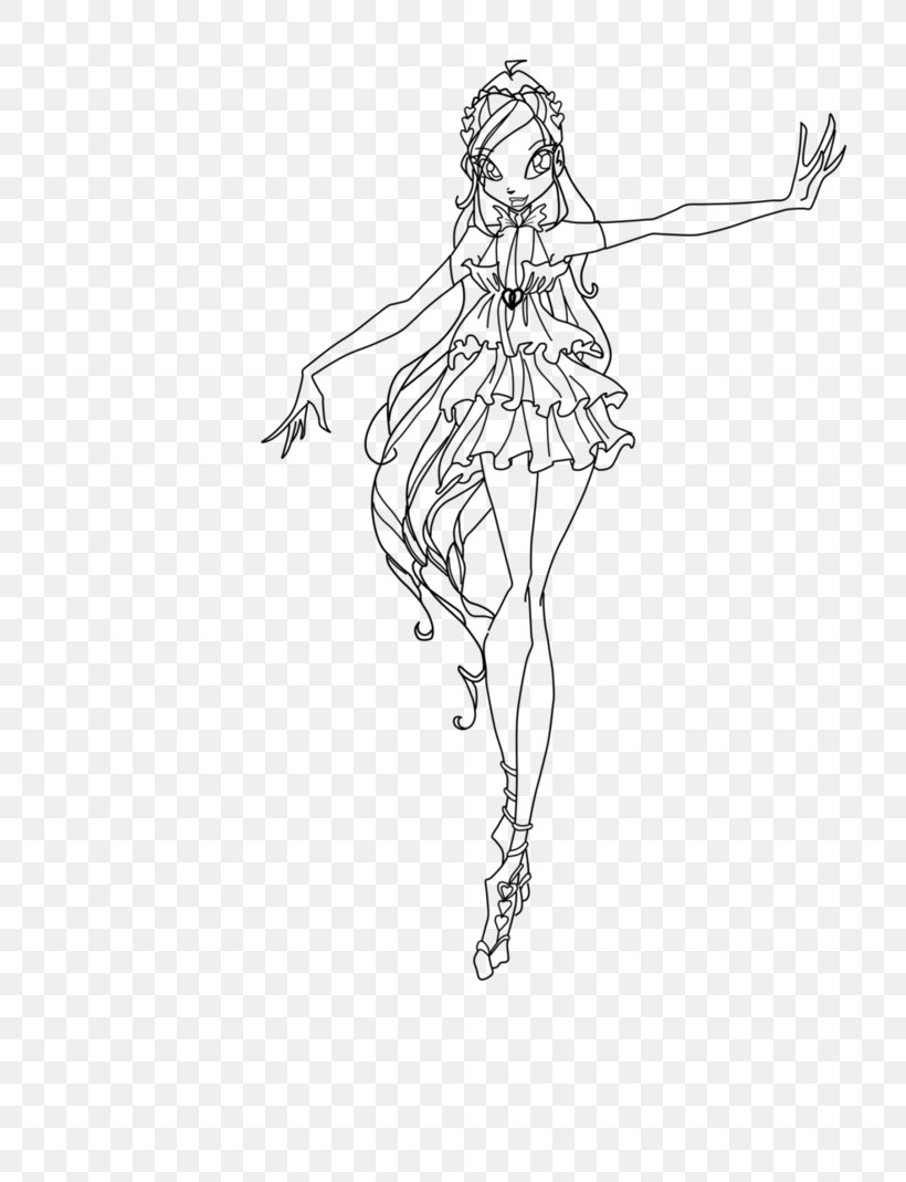 BLOOM coloring pages - Winx fairy Bloom in 2020 | Cartoon coloring ... | 1069x820
