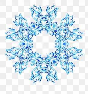 Snowflake - Blue Snowflake Drawing Pattern PNG