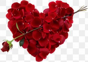 Day - Valentine's Day Flower Heart Floral Design Gift PNG