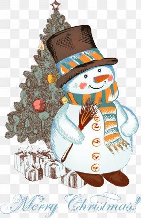 Christmas Cartoon Snowman - Christmas Snowman Clip Art PNG