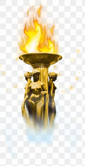 Fiery Torch Carbon Flame Sculpture - Fire Flame Carbon PNG