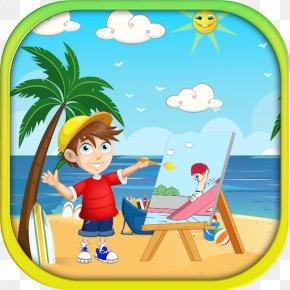 The Summer Vacation Seven Days Summer Discount - Human Behavior Toy Recreation Clip Art PNG