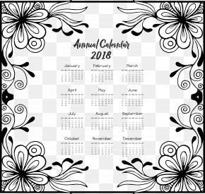 Vintage 2018 Calendar - Google Calendar Euclidean Vector Template Download PNG