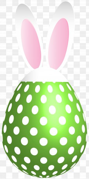 Easter Dotted Bunny Egg Green Transparent Clip Art - Image File Formats Lossless Compression PNG