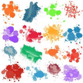 Paint Color Cliparts - Paint Color Brush Clip Art PNG