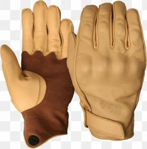 Leather Gloves Image - Glove Leather Motorcycle Cuff Tan PNG