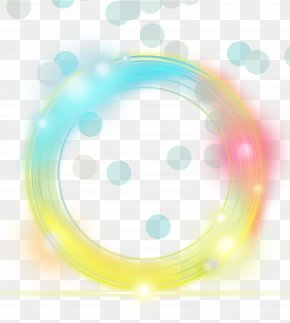 Yellow Simple Light Circle Effect Element - Light Yellow Euclidean Vector PNG