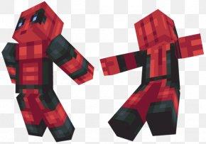 Minecraft Deadpool Skin - Minecraft: Pocket Edition Deadpool Marvel Comics PNG