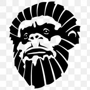 Monkey - Ape Chimpanzee Monkey Drawing PNG