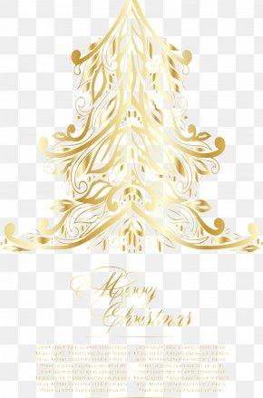 Greeting Christmas Tree Vector Illustration - Christmas Tree Euclidean Vector Illustration PNG