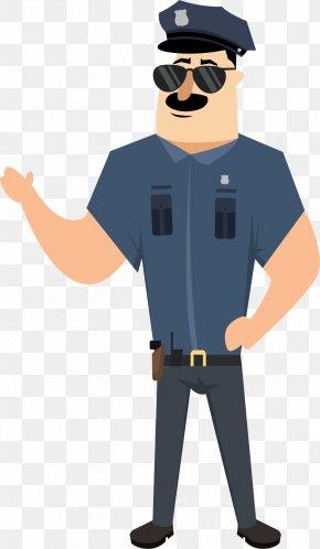 Cartoon Cop - Cartoon Police Illustration PNG