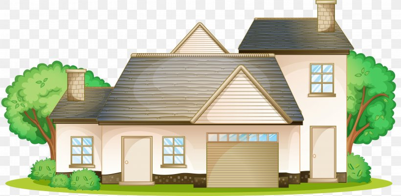 House Royalty-free Cartoon, PNG, 6598x3241px, House, Apartment, Building, Cartoon, Cottage Download Free