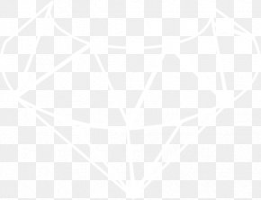Diamond Outline - White Symmetry Pattern PNG