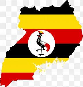 Map - Flag Of Uganda Map National Flag PNG