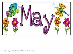 Heading Line Cliparts - May Calendar Free Content Clip Art PNG
