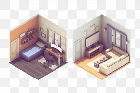 Mini Home - Isometric Projection 3D Computer Graphics Illustration PNG