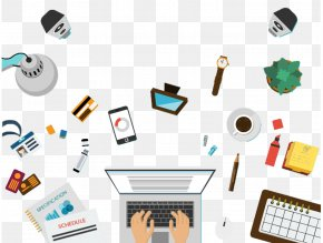 Business Office - Computer Graphics Illustration PNG