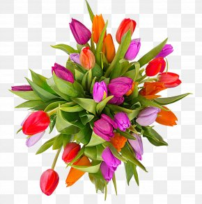 Tulip Bouquet Picture Material - Tulip Flower Bouquet Easter Clip Art PNG