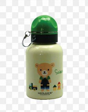 Beige Cartoon Bear Kettle - Water Bottle Stainless Steel Cup Kettle Glass PNG
