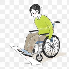 The Man In The Wheelchair Stepped Up The Steps - Wheelchair Disability Sitting PNG