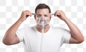 Mask - Continuous Positive Airway Pressure ResMed Full Face Diving Mask Sleep Apnea PNG
