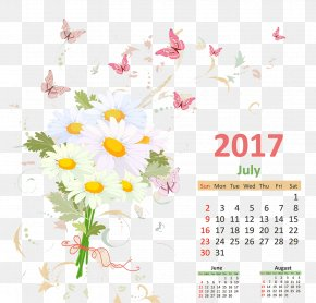 Calendar - Floral Design Text Flower Petal Pattern PNG