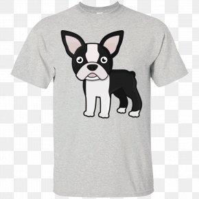 T-shirt - Long-sleeved T-shirt Hoodie Boston Terrier Clothing PNG