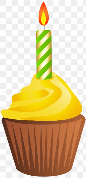 Birthday Muffin With Candle Clip Art Image - Muffin Birthday Cake Cupcake Clip Art PNG