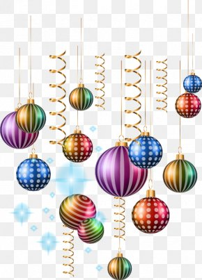 Hand-painted Bent Lanyards Ball Pattern - Ball Christmas Ornament Clip Art PNG