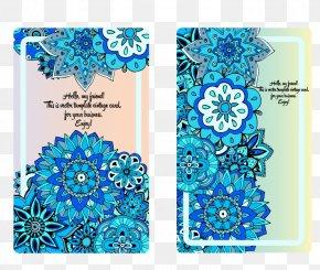 Vector Flowers Wedding Invitations - Wedding Invitation Convite Euclidean Vector Blue Marriage PNG