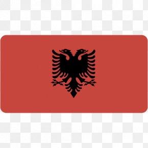Albania - Symbol Label Red Logo Font PNG