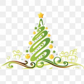 Features Christmas Tree - Christmas Tree Gift Yule New Year Illustration PNG
