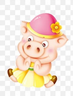 Pig - Domestic Pig Cartoon Chinese Zodiac PNG