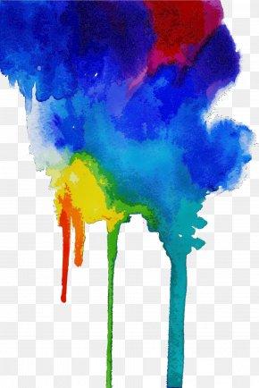 Painting Child Art - Watercolor Paint Electric Blue Acrylic Paint Paint Child Art PNG