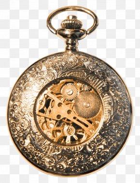 Beautiful Brown Clock Gear - Pocket Watch Clock PNG