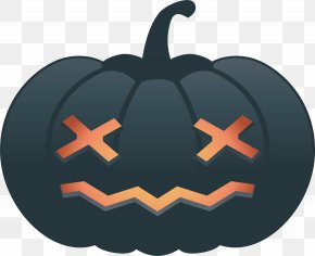 Star Eyes Pumpkin Head - Pumpkin Calabaza Eye PNG