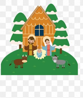 Coming Of Jesus Christ - Bethlehem Nativity Scene Nativity Of Jesus Christmas Clip Art PNG