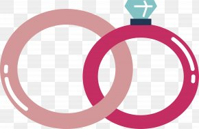 Pink Wedding Ring - Wedding Ring Euclidean Vector PNG