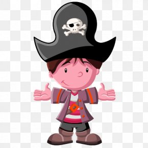 Cartoon Pirate - Paper Partition Wall Adhesive Sticker Piracy PNG