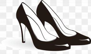 Black High Heels - Shoe High-heeled Footwear Sneakers Clip Art PNG