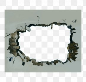 Hole Wall Crack Map - Wall 3D Computer Graphics Texture Mapping PNG