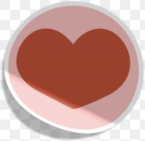 Paper Peach Heart - Paper Peach Aviation Red Material PNG