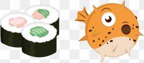 Japanese Puffer Sushi - Japanese Cuisine Flag Of Japan Clip Art PNG