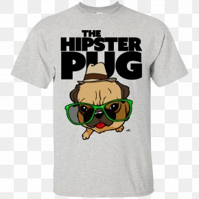 T-shirt - T-shirt Pug Quadro Art Drawing PNG
