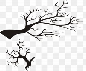 Black Tree - Twig Black And White Clip Art PNG