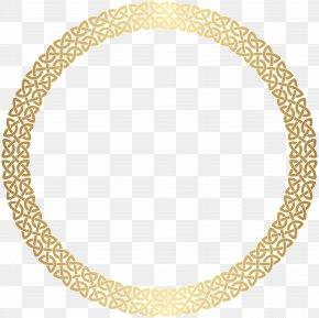 Round Border Frame Gold Clip Art - Clip Art PNG