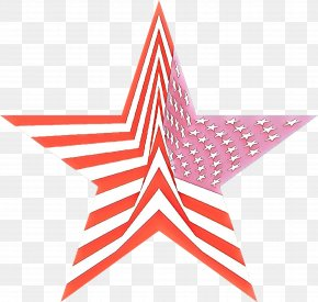 Pink Star Polygon - Star Cartoon PNG